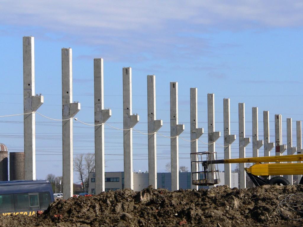 Gelžbetoninės kolonos, gb kolonos, aksa kolonos