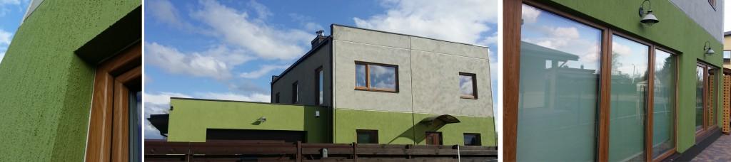 surenkami aksa namai, gelžbetoniniai surenkami namai, trisluoksnės aksa sienos