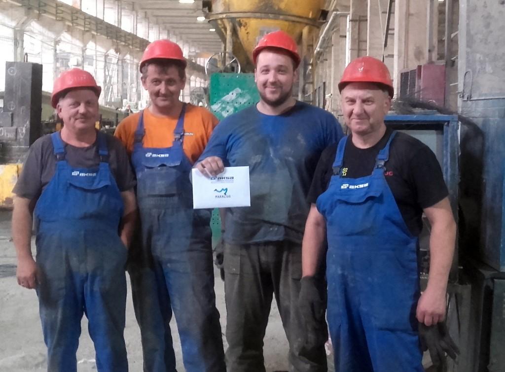 """AB """"AKSA"""" brigadininkas Rokas Nedzveckas slaptu balsavimu išrinktas geriausiu brigados darbuotoju"""