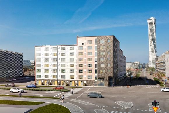 Stapelbädden – AKSA precast for the students apartments