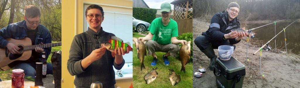Rimvydas Moceikis likes fishing and guitar