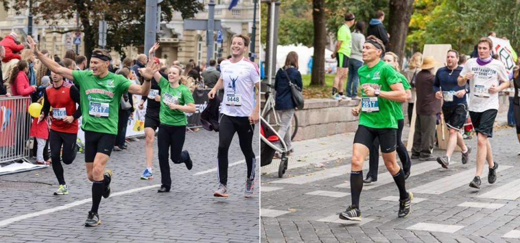 Sigitas Baltrukškevičius while running marathon