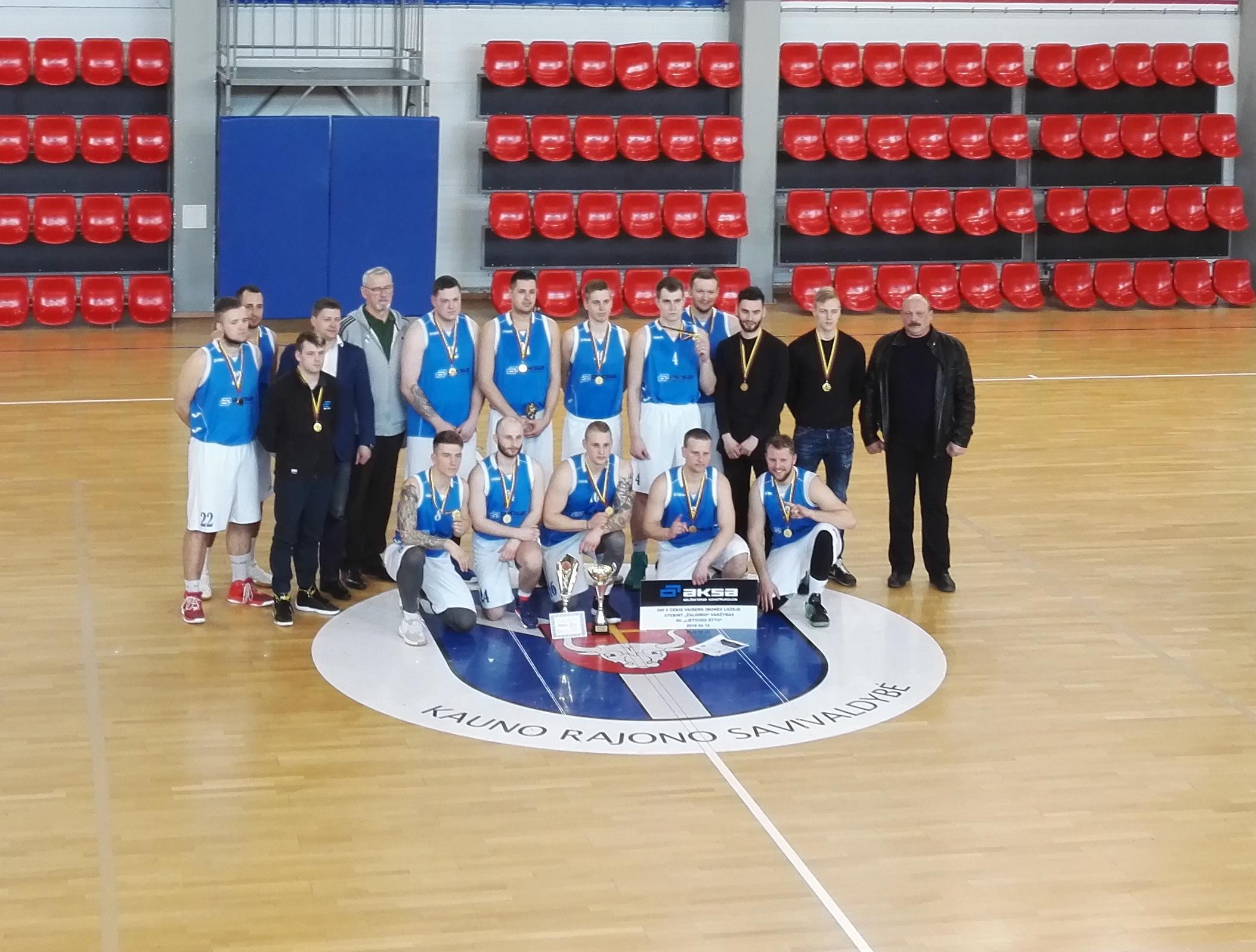 Įmonės komanda užėmė 1 vietą Kauno krepšinio mėgėjų lygos Bendruomenių pirmenybėse